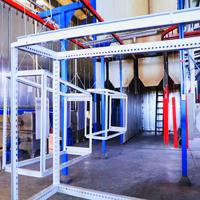 自动喷淋表面前处理与自动喷涂流水线